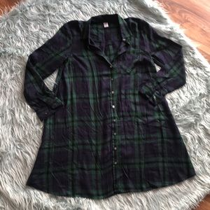 Old Navy Plaid Popover Shirt Dress for Women XS